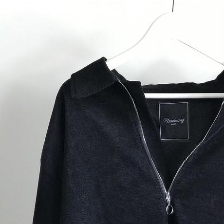 unrelaxing corduroy over size shirt