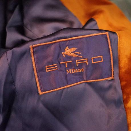 ETRO velour long coat