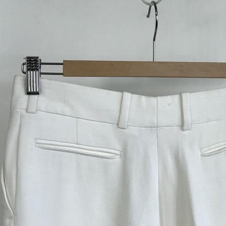 celine silk trousers white