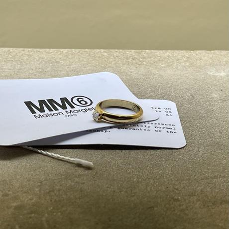 新品 mm6 maison margiela 2019aw ring gold