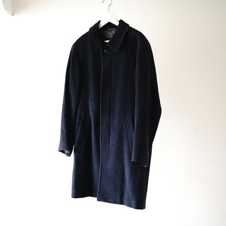 BURBERRY cashmere wool coat  navy