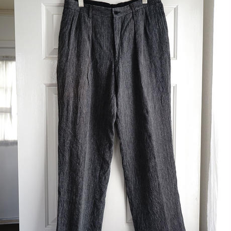 issey miyake tack wide trousers