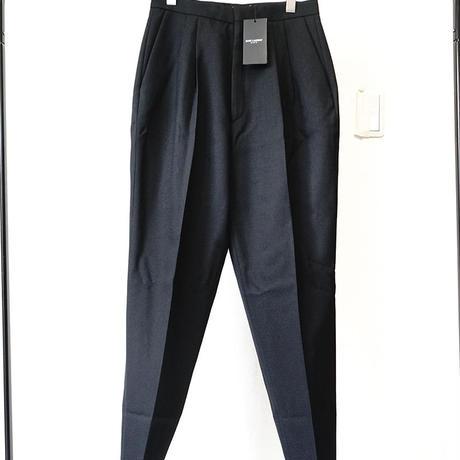 新品 SAINT LAURENT PARIS 2018ss tack trousers black