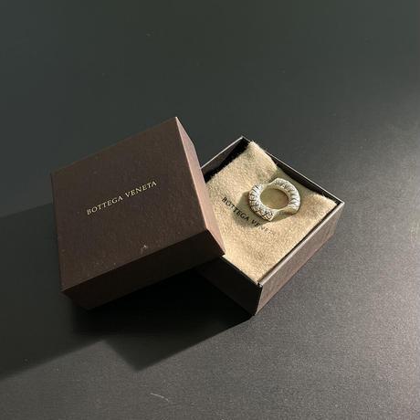 bottega veneta 2020ss silver ring 12号