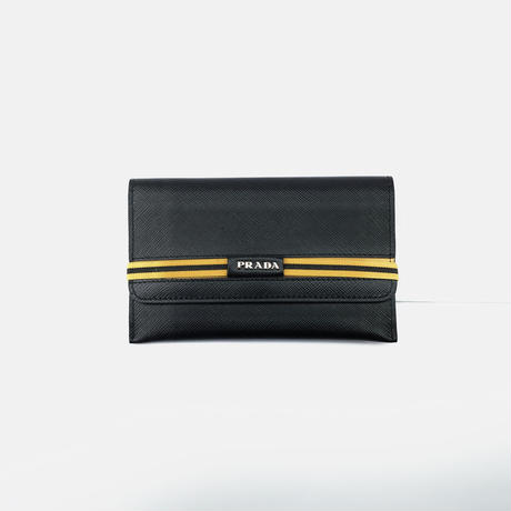 新品 prada 2019aw leather pouch 2 set
