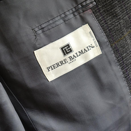 PIERRE BALMAIN check set up suit