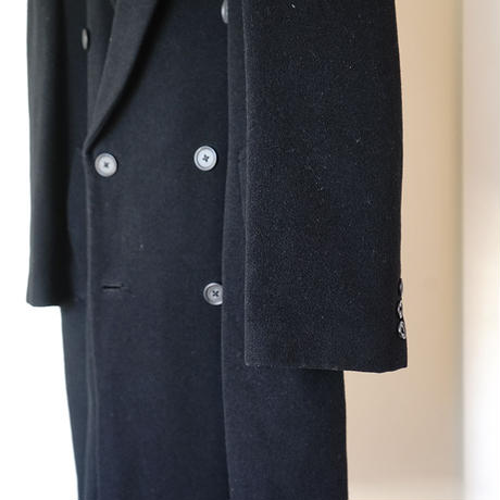 vintage cashmere wool double chesterfield coat