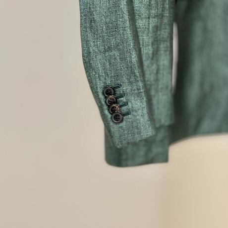 """新品 paul smith 2016ss linen """"箔"""" summer suit emerald"""