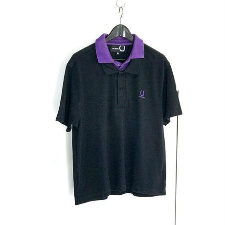 raf simons over size layered polo shirt