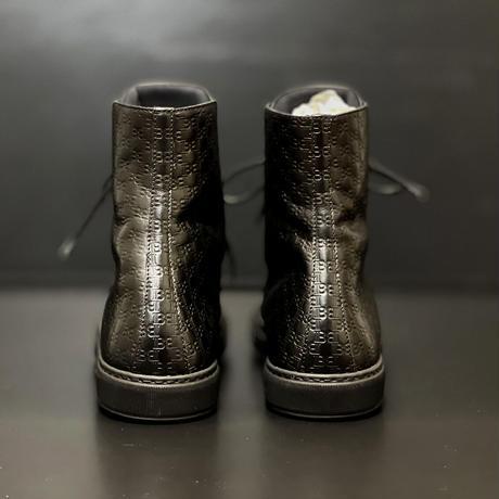 新品 balmain monogram leather boots 42