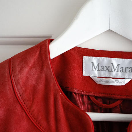max mara suede leather jacket