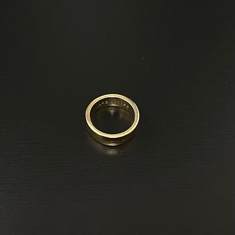 新品 2020ss marc jacobs 1st line ring gold 12号