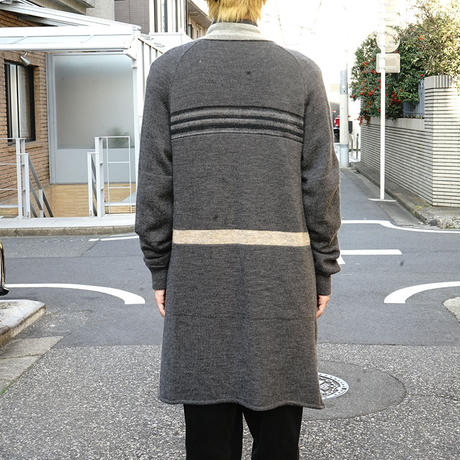 sacai knit coat