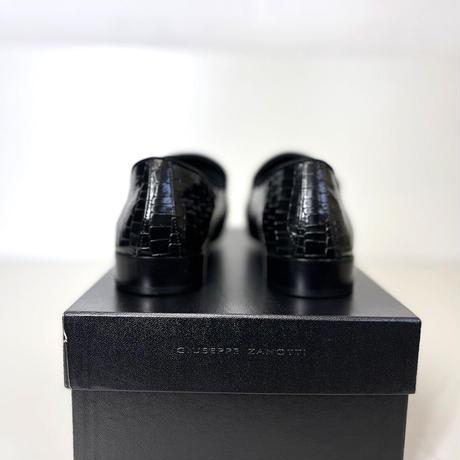 新品 giuseppe zanotti 2020ss intrecciato shose black 42