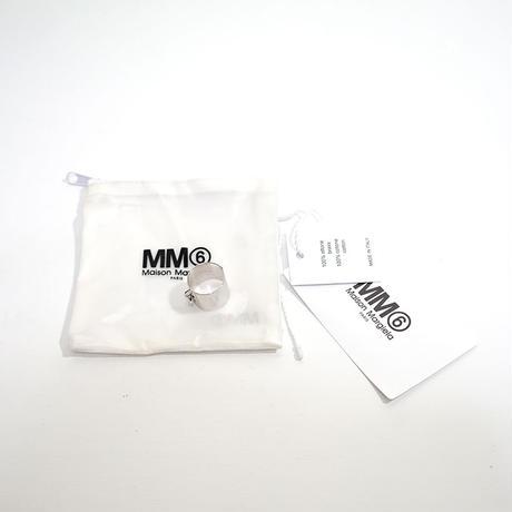 新品 mm6 maison margiela silver ring 19号