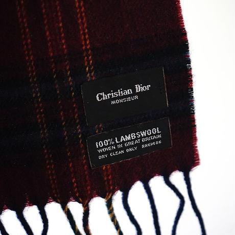Christian Dior check muffler