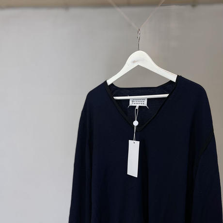 新品 maison margiela knit navy XL