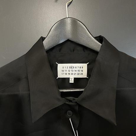 新品 maison margiela over size silk long shirt