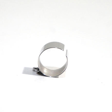新品 mm6 maison margiela silver ring 17号#2