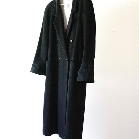 BURBERRY cashmere wool double coat black
