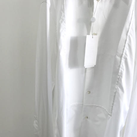 新品 maison margiela 2019ss tack dress shirt white 40