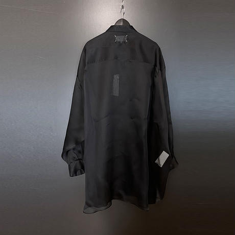 新品 maison margiela over size silk long shirt