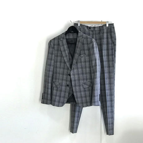未使用 three piece set up suit