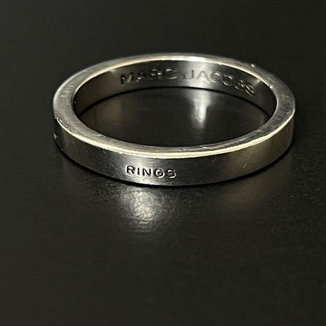 "新品 2020ss marc jacobs 1st line ring ""slim"" silver 15号"