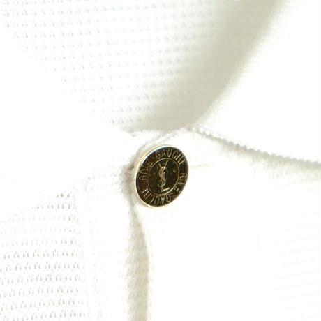 yves saint laurent rive gauche gold button polo shirt