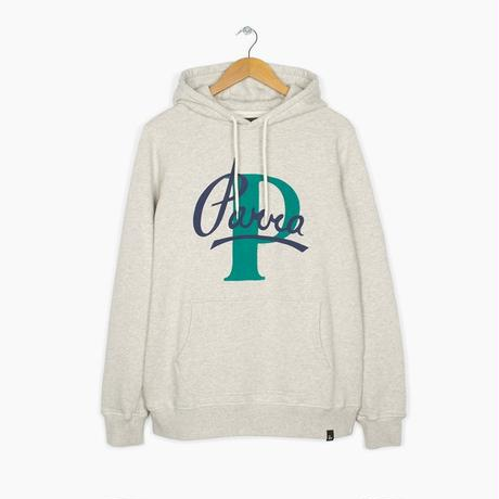 by Parra / HOODED SWEATER PAINTERLY SCRIPT - OATMEAL