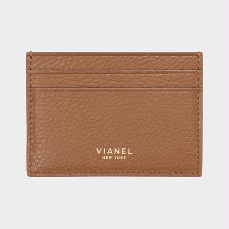 VIANEL NEW YORK V3 CARD HOLDER - CALFSKIN TAN