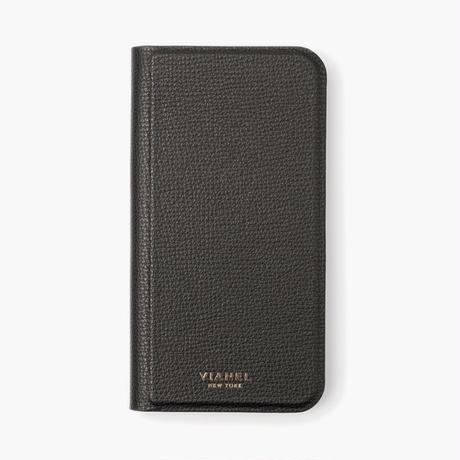 VIANEL NEW YORK Folding iPhone Xs/X Case - CALFSKIN BLACK