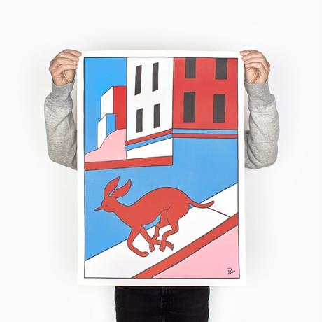 by Parra / poster - running down that hill