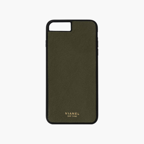 VIANEL NEW YORK / Flex iPhone 8/7 Case - Calfskin Military Green