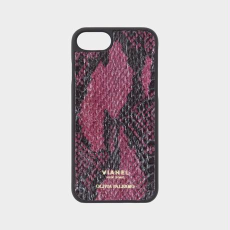 VIANEL NEW YORK iPhone 8/7 Case - WINE WITH BLACK (OLIVIA PALERMO)
