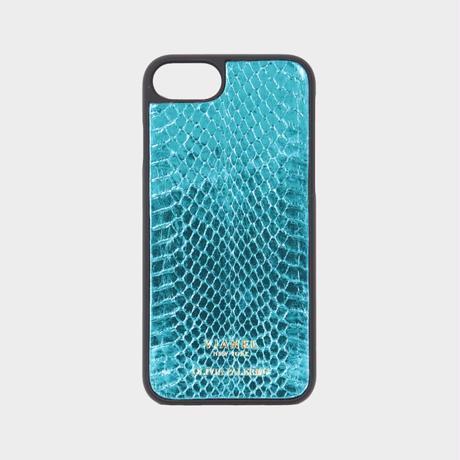 VIANEL NEW YORK iPhone 8/7 Case - SNAKE TEAL METALLIC (OLIVIA PALERMO)
