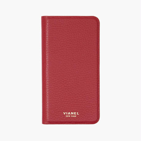 VIANEL NEW YORK / Folding iPhone 8/7 Case - Calfskin Red