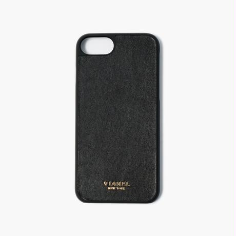 VIANEL NEW YORK - iPhone 8/7 Case - Calfskin Black Smooth