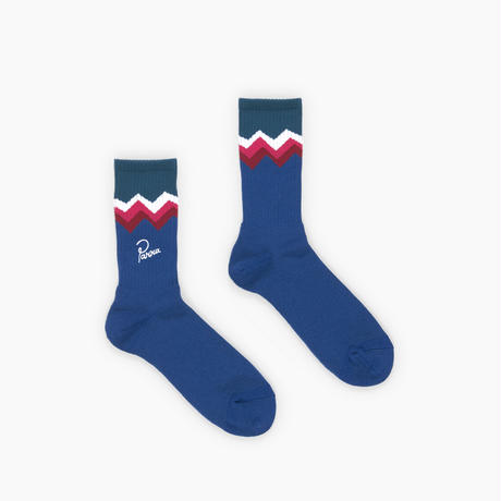 by Parra / crew socks mountain striped - blue