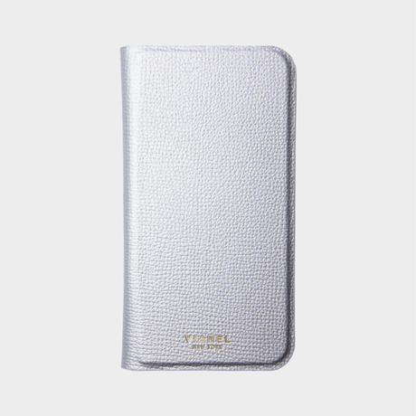 VIANEL NEW YORK Folding iPhone Xs/X Case - CALFSKIN SILVER