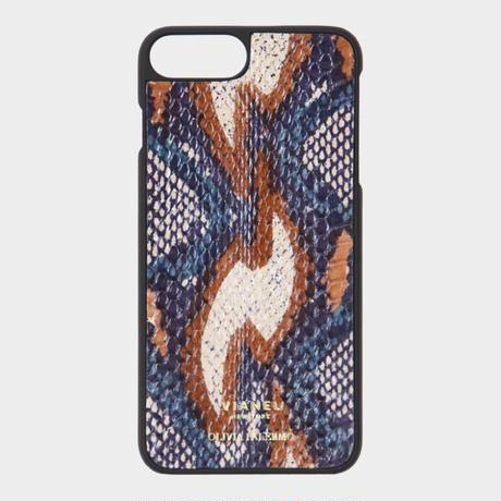 VIANEL NEW YORK iPhone 8Plus/7Plus Case - SNAKE TEAL WITH CAMEL (OLIVIA PALERMO)