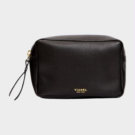 VIANEL NEW YORK COSMETIC BAG - CALFSKIN BLACK