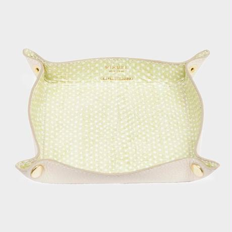 VIANEL NEW YORK LEATHER TRAY - SNAKE LEMON (OLIVIA PALERMO)