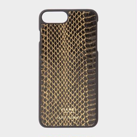 VIANEL NEW YORK iPhone 8Plus/7Plus Case - SNAKE BLACK WITH GOLD(OLIVIA PALERMO)