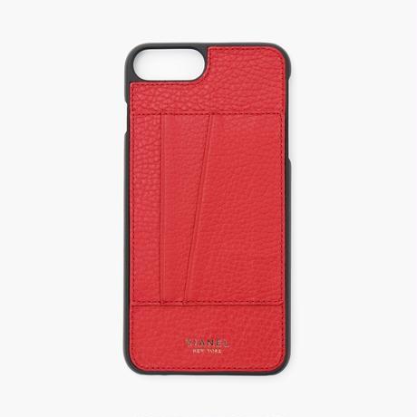 VIANEL NEW YORK - Cardholder iPhone 8Plus/7Plus Case - Calfskin Red
