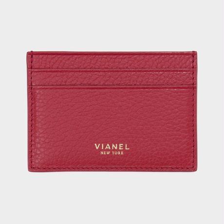 VIANEL NEW YORK V3 CARD HOLDER - CALFSKIN RED