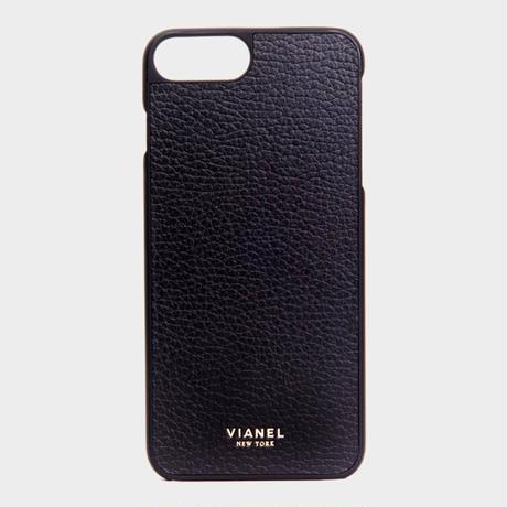VIANEL NEW YORK - iPhone 8Plus/7Plus Case - Calfskin Black