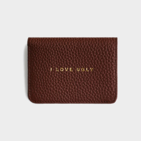 I LOVE UGLY / CARD CASE WALLET - FRANKLIN BROWN