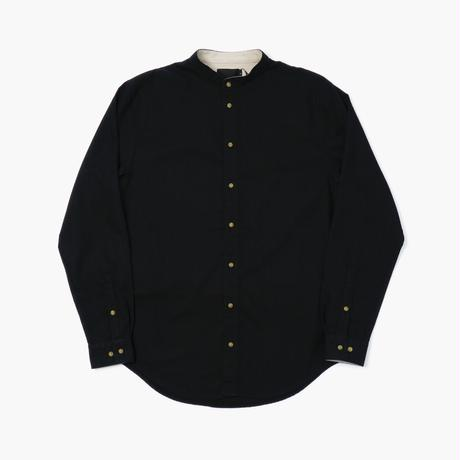 I LOVE UGLY / MANDARIN COLLAR SHIRT - BLACK