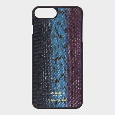 VIANEL NEW YORK iPhone 8Plus/7Plus Case - SNAKE TEAL WITH PURPLE (OLIVIA PALERMO)